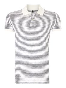 Benetton Stripe  Regular Fit Polo Shirt