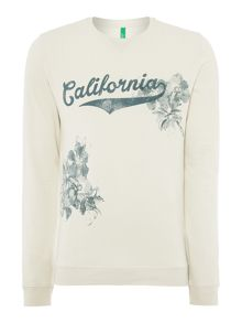 Benetton Print Crew Neck Pull Over