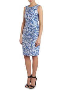 Tara Jarmon Rose print sleeveless shift dress