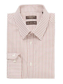 Sabino Mini Geo Diamond Print Shirt