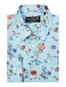 New & Lingwood Dittany Floral Tailored Fit Long Sleeve Classic C