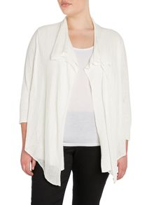 Lauren Woman Plus Suze 3/4 Sleeve Open Front Cardigan
