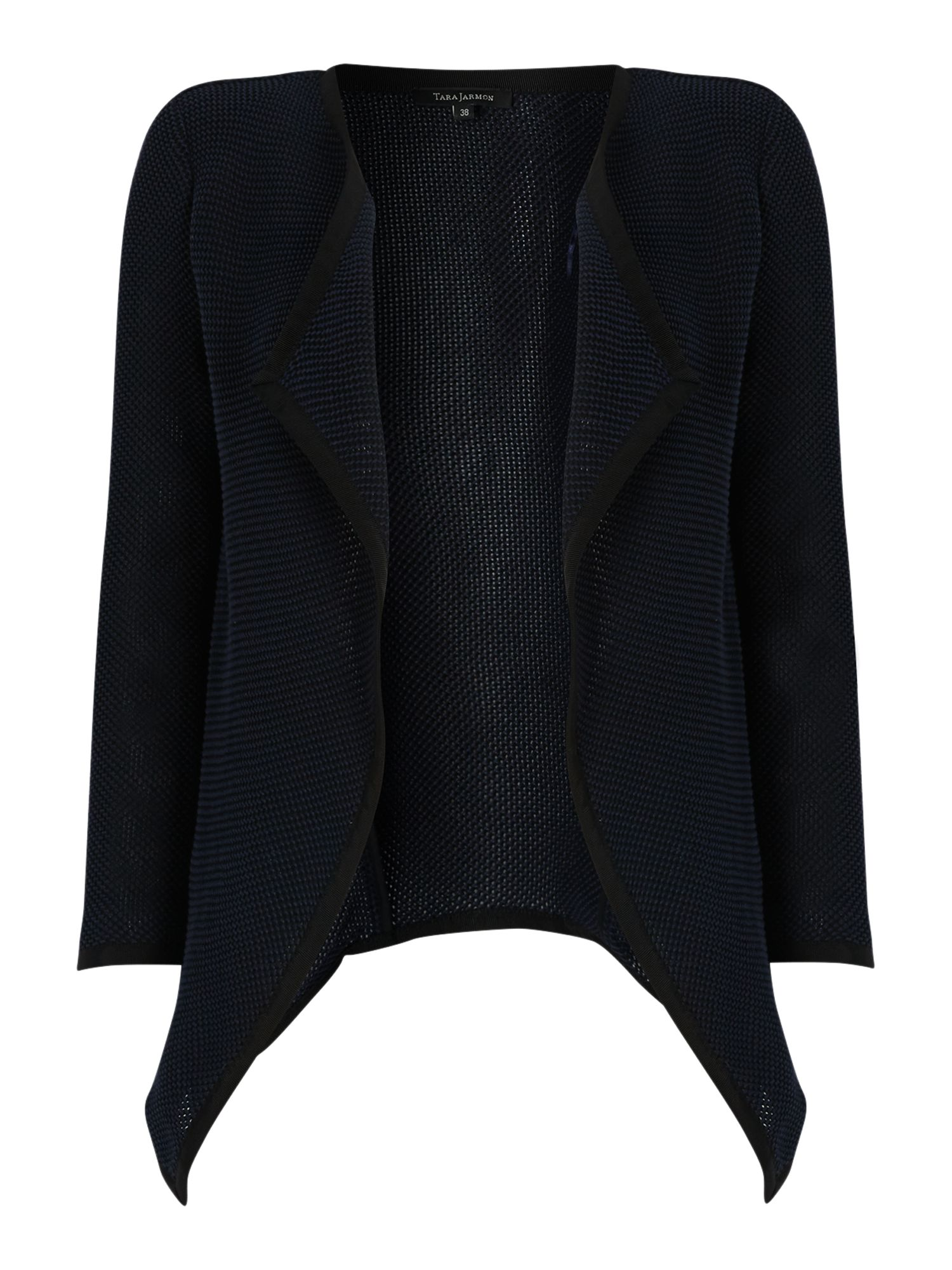 Tara Jarmon Tara Jarmon Waterfall knit jacket, Navy