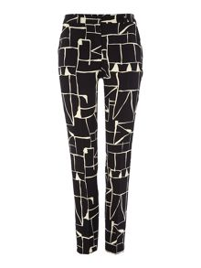 Tara Jarmon Graphic print slim trousers