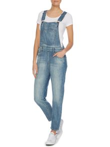 Vilde long dungarees in superlight stone