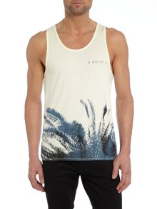Moloy Graphic Crew Neck Regular Fit Vest