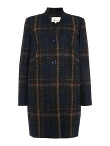 Linea Check detail cocoon coat