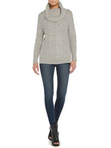 Label Lab Chunky cable cowl jumper