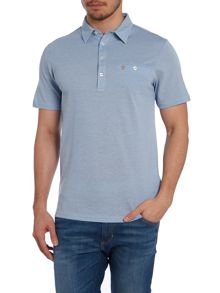 Short Sleeve Polo Shirt In Mercerised Cotton