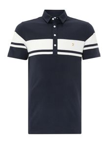 Regular Fit Polo Shirt With Block Stripe