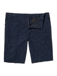 Cotton Shorts In Flecked Fabric
