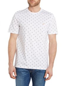Farah Pattern Crew Neck Regular Fit T-Shirt