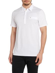 Farah Regular Fit Polo Shirt With Textured Front