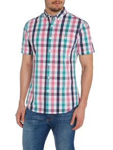 Farah Check Classic Fit Short Sleeve Classic Coll