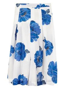 Phase Eight Iona floral print cotton skirt