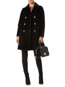Biba Faux fur double breasted 60`s coat