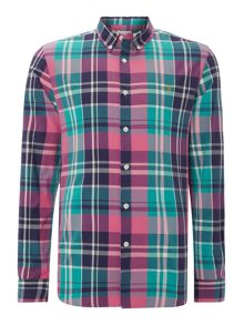 Farah Check Classic Fit Long Sleeve Button Down S