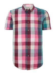 Farah Classic Fit Short Sleeve Shirt In Check