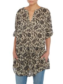 Hafern printed tunic blouse