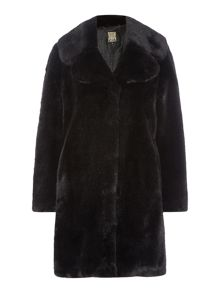 Biba Large Portobello Faux Fur Coat
