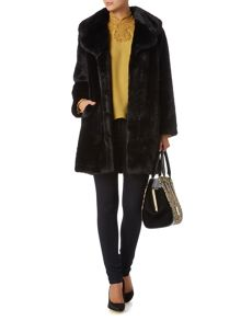 Large Portobello Faux Fur Coat