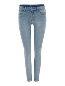 Dr Denim Regina 5 pocket skinny jean in superlight stone