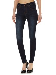 Regina 5 pocket skinny jean in dark blue