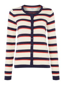 Dickins & Jones Textured stripe cardigan