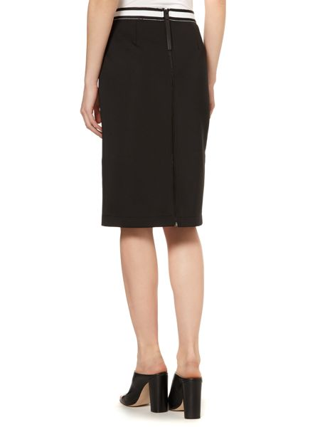 Vince Camuto Knee length pencil skirt with zip back