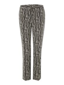 Slim leg etch print trousers
