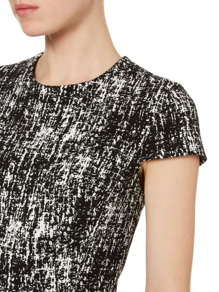 Vince Camuto Etch print fit and flare dress