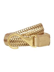 Gold stretch hook belt