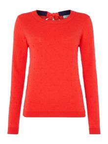 Coral french knot jumper
