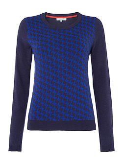 Dickins & Jones Zig Zag Jacquard Jumper