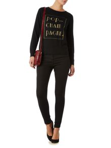 Biba Pop the champagne crew neck jumper