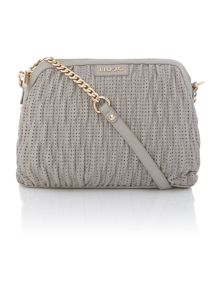 Turchese grey chain cross body bag