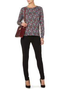 Multi coloured snake print jumper