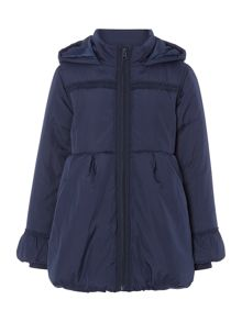 Girls frill trimmed padded coat