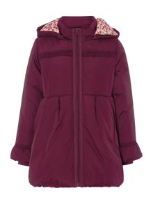 Little Dickins & Jones Girls frill trimmed padded coat