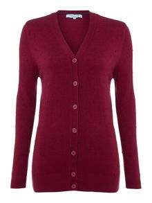 Dickins & Jones Longline french knot cardigan