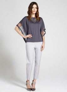 Dove Stretch Cotton Capri