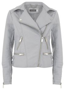 Dove Faux Leather Biker Jacket