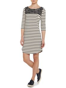 Lace york stripe dress