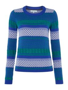 Fairisle Stripe Jacquard Jumper