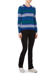 Dickins & Jones Fairisle Stripe Jacquard Jumper