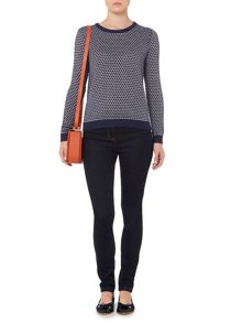 Spot Jacquard Bow Back Jumper