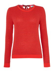 Dickins & Jones Spot Jacquard Bow Back Jumper