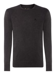Powder Wash Crew Neck Knitted Jumper