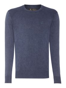 Label Lab Powder Wash Crew Neck Knitted Jumper
