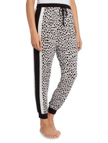 DKNY Drawstring Striped Side Cropped pants